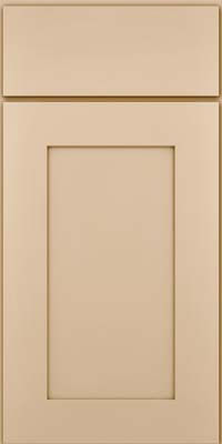 Square Recessed Panel - Solid (DRHM) Maple in Mushroom - Base