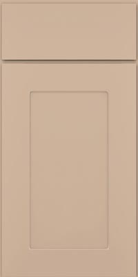 Square Recessed Panel - Solid (DRHM1) Maple in Mushroom w/Coconut Glaze - Base