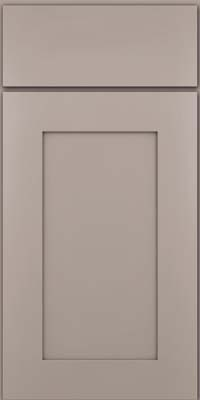 Square Recessed Panel - Solid (DRHM) Maple in Pebble Grey - Base