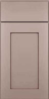 Square Recessed Panel - Solid (DRHM) Maple in Pebble Grey w/ Cocoa Glaze - Base