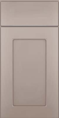 Square Recessed Panel - Solid (DRHM) Maple in Pebble Grey w/ Coconut Glaze - Base