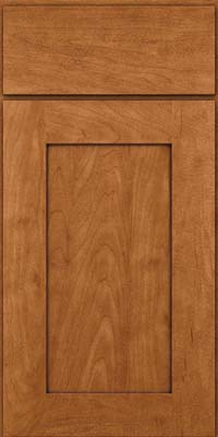 Square Recessed Panel - Solid (DRHM) Maple in Praline w/Onyx Glaze - Base