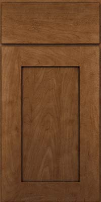 Square Recessed Panel - Solid (DRHM) Maple in Rye w/Onyx Glaze - Base