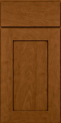 Square Recessed Panel - Solid (DRHM) Maple in Rye w/Sable Glaze - Base