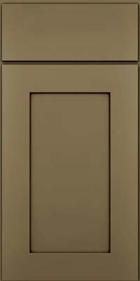 Square Recessed Panel - Solid (DRHM) Maple in Sage w/Cocoa Glaze - Base
