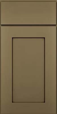 Square Recessed Panel - Solid (DRHM) Maple in Sage w/Cocoa Glaze - Base