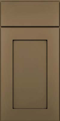 Square Recessed Panel - Solid (DRHM) Maple in Sage w/Onyx Glaze - Base