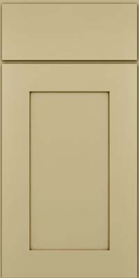 Square Recessed Panel - Solid (DRHM) Maple in Willow w/Cocoa Glaze - Base