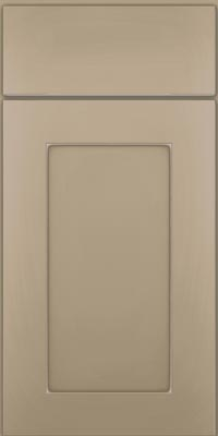 Square Recessed Panel - Solid (DRHM1) Maple in Willow w/Coconut Glaze - Base