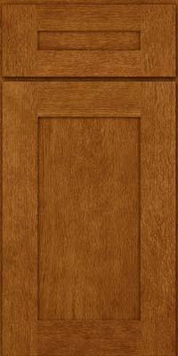 Square Recessed Panel - Solid (AB2O) Oak in Golden Lager - Base