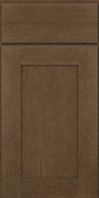 Square Recessed Panel - Solid (AB2O1) Oak in Hazel - Base