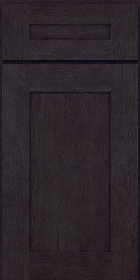 Square Recessed Panel - Solid (AB2O) Oak in Slate - Base