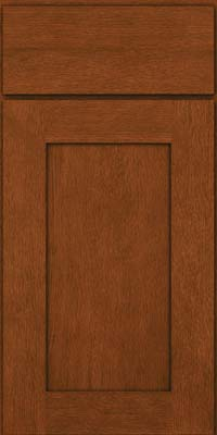 Square Recessed Panel - Solid (AB2O) Quartersawn Oak in Autumn Blush - Base