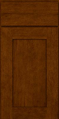 Square Recessed Panel - Solid (AB2O) Quartersawn Oak in Cognac - Base
