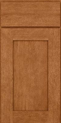 Square Recessed Panel - Solid (AB2O) Quartersawn Oak in Fawn - Base