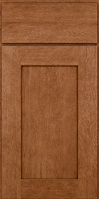 Square Recessed Panel - Solid (AB2O) Quartersawn Oak in Ginger w/Sable Glaze - Base