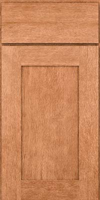 Square Recessed Panel - Solid (AB2O) Quartersawn Oak in Honey Spice - Base