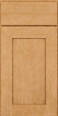 Square Recessed Panel - Solid (AB2O) Quartersawn Oak in Natural - Base