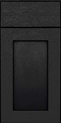 Square Recessed Panel - Solid (AB2O) Quartersawn Oak in Onyx - Base
