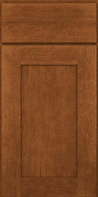 Square Recessed Panel - Solid (AB2O) Quartersawn Oak in Rye - Base