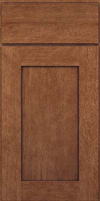 Square Recessed Panel - Solid (AB2O) Quartersawn Oak in Rye w/Onyx Glaze - Base