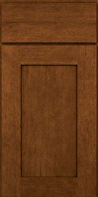 Square Recessed Panel - Solid (AB2O) Quartersawn Oak in Rye w/Sable Glaze - Base