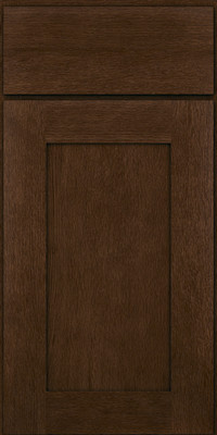 Square Recessed Panel - Solid (AB2O) Quartersawn Oak in Saddle - Base