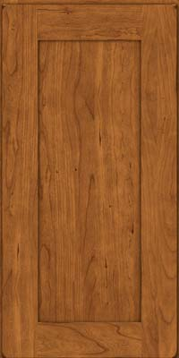 Square Recessed Panel - Solid (DRHC) Cherry in Burnished Golden Lager - Wall