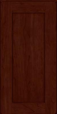 Square Recessed Panel - Solid (DRHC) Cherry in Burnished Cabernet - Wall