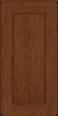 Square Recessed Panel - Solid (DRHC) Cherry in Burnished Chocolate - Wall
