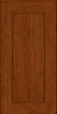 Square Recessed Panel - Solid (DRHC) Cherry in Burnished Cinnamon - Wall