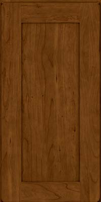 Square Recessed Panel - Solid (DRHC) Cherry in Burnished Ginger - Wall