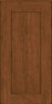 Square Recessed Panel - Solid (DRHC) Cherry in Burnished Rye - Wall