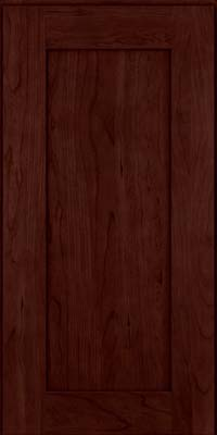 Square Recessed Panel - Solid (DRHC) Cherry in Cabernet - Wall