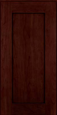 Square Recessed Panel - Solid (DRHC) Cherry in Cabernet w/Onyx Glaze - Wall