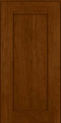 Square Recessed Panel - Solid (DRHC) Cherry in Chocolate - Wall