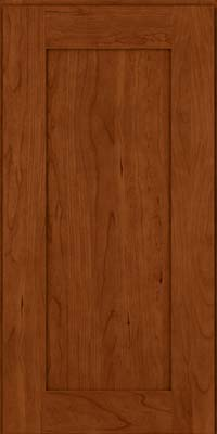 Square Recessed Panel - Solid (DRHC) Cherry in Cinnamon - Wall