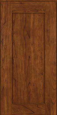 Square Recessed Panel - Solid (DRHC) Cherry in Cognac - Wall