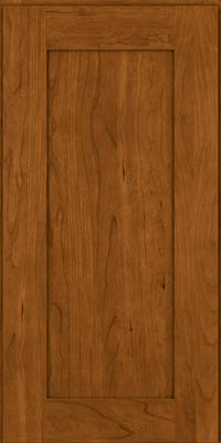 Square Recessed Panel - Solid (DRHC) Cherry in Golden Lager - Wall