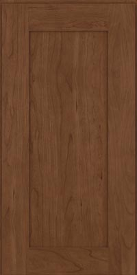 Square Recessed Panel - Solid (DRHC1) Cherry in Hazel - Wall