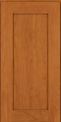 Square Recessed Panel - Solid (DRHC) Cherry in Honey Spice - Wall