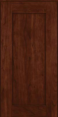 Square Recessed Panel - Solid (DRHC) Cherry in Kaffe - Wall