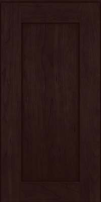 Square Recessed Panel - Solid (DRHC) Cherry in Peppercorn - Wall