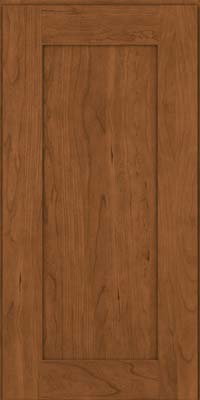 Square Recessed Panel - Solid (DRHC) Cherry in Rye - Wall