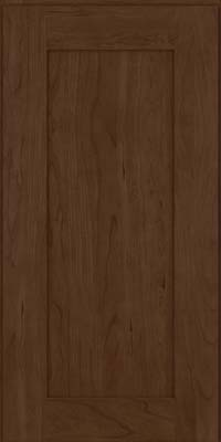 Square Recessed Panel - Solid (DRHC) Cherry in Saddle Suede - Wall