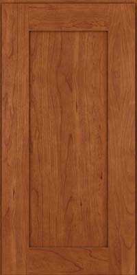 Square Recessed Panel - Solid (DRHC) Cherry in Sunset - Wall