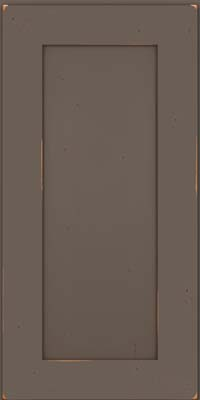 Square Recessed Panel - Solid (DRHC) Cherry in Vintage Greyloft w/ Sable Patina - Wall