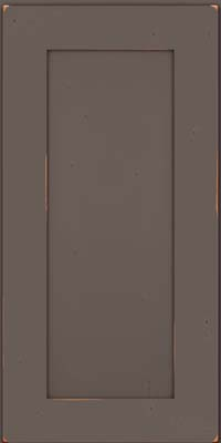 Square Recessed Panel - Solid (DRHC) Cherry in Vintage Greyloft - Wall