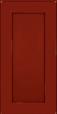 Square Recessed Panel - Solid (DRHC) Cherry in Vintage Cardinal w/Onyx Patina - Wall