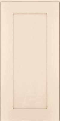 Square Recessed Panel - Solid (DRHM) Maple in Canvas w/Cocoa Glaze - Wall